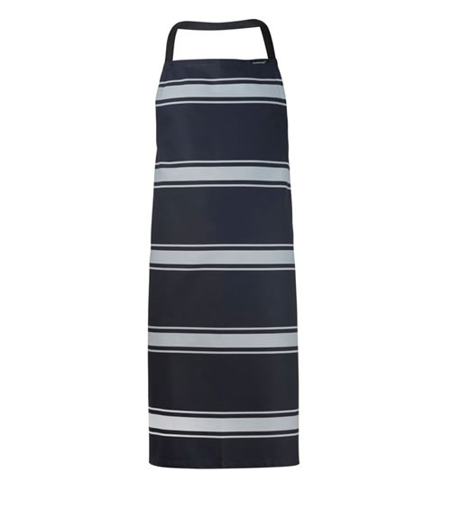 CA006 Full Bib Butchers Stripe Apron