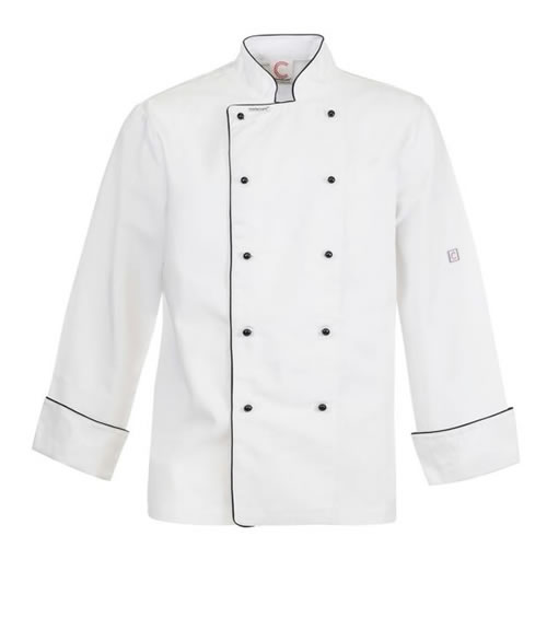 CJ037 Executive Chefs Jacket with Piping - Long Sleeve