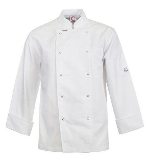 CJ039 Executive Chefs Jacket with Press Studs- Long Sleeve