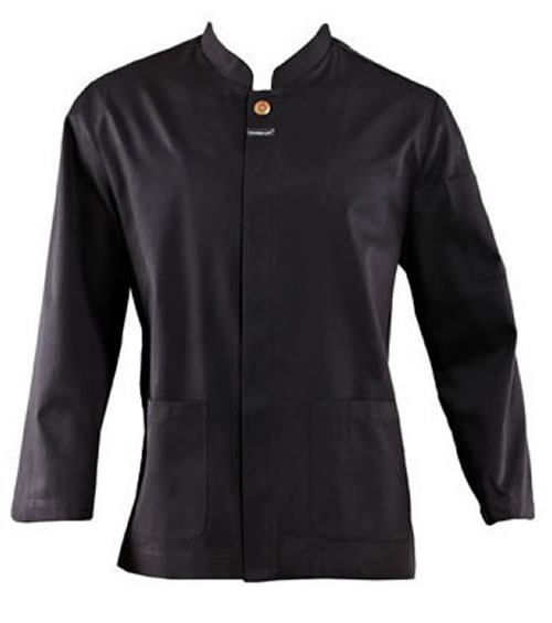 CJ047 Waiters Jacket with Concealed Press Studs & Pockets - Long Sleeve