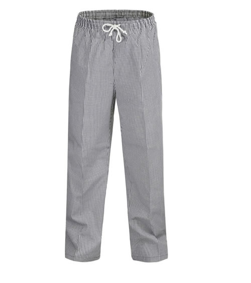 CP050 Unisex Chefs Check Elastic Drawstring Pant