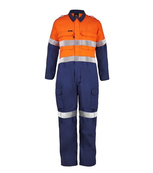 FCT005 Torrent HRC2 Hi Vis Two Tone Coverall with FR Reflective Tape