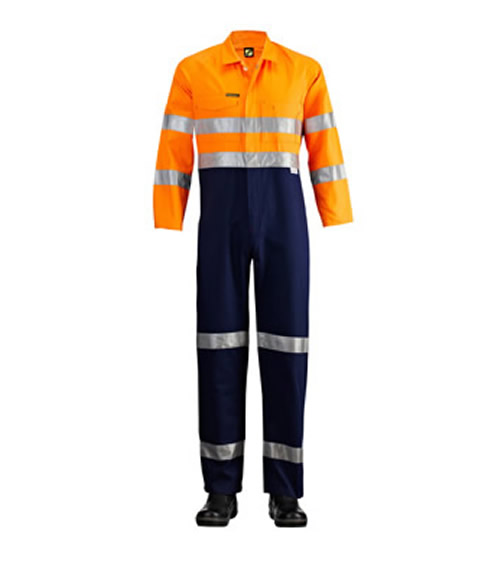 WC3056 Hi Vis Two Tone Coveralls with 3M 9920 Reflective Tape