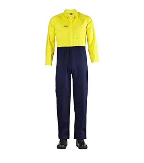 WC3059 Hi Vis Two Tone Poly/Cotton Coveralls