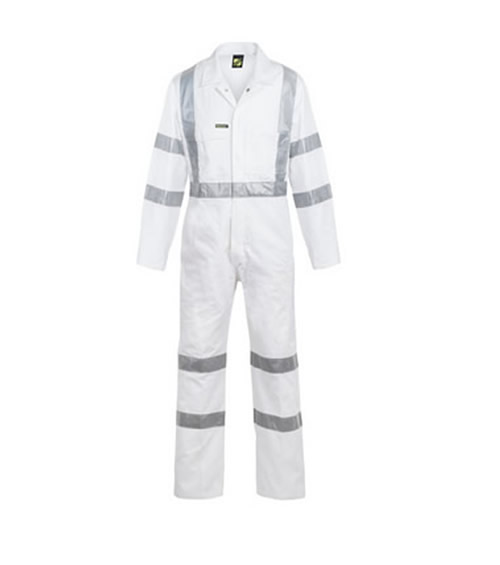 WC3254 Hi Vis Night Only Coverall with 3M X Pattern Reflective Tape