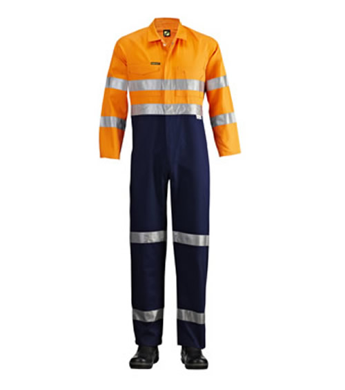 WC4008 Hi Vis Two Tone Coveralls with 3M Reflective Tape