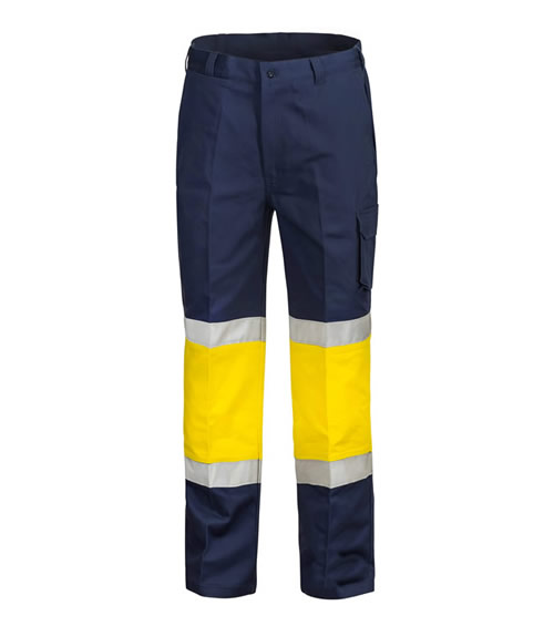 WP3066 Traffic Controller Modern Fit Cotton Drill Cargo Trouser with Contrast Knee and CSR Reflective Tape