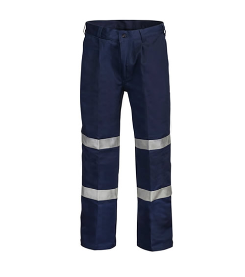 WP4006 Single Pleat Cotton Drill Trouser with 3M Reflective Tape