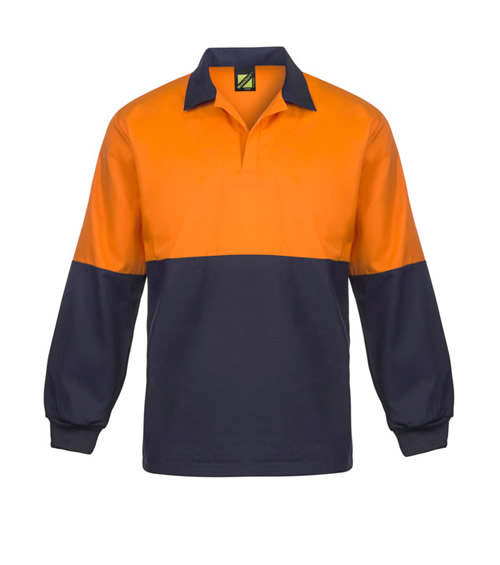 WS3018 Hi Vis Two Tone Jac Shirt - Long Sleeve