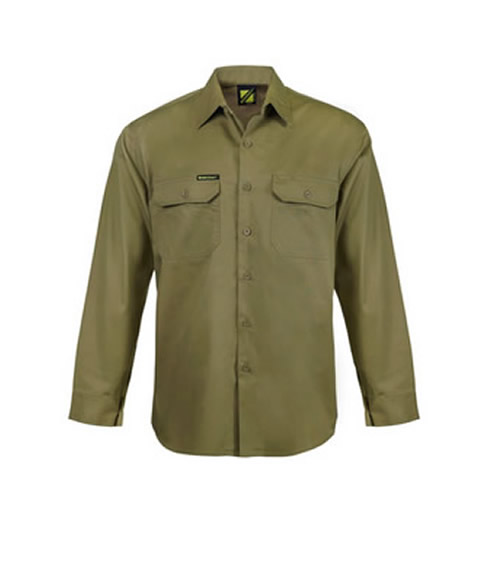 WS3020 Long Sleeve Cotton Drill Shirt