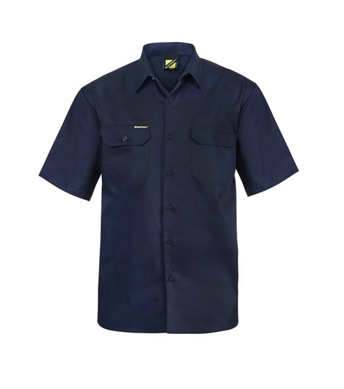 WS3021 Short Sleeve Cotton Drill Shirt