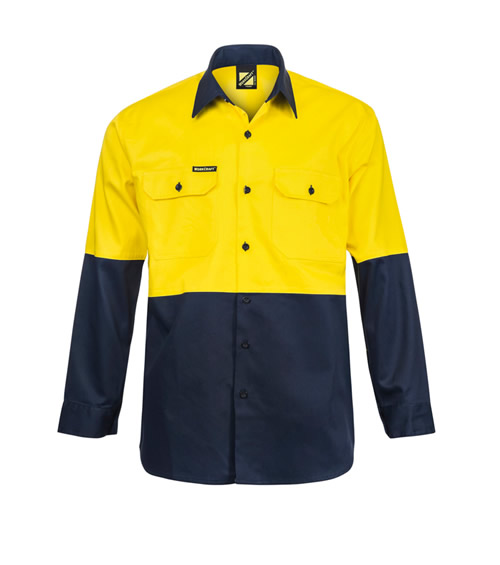 WS3022 Hi Vis Two Tone Long Sleeve Shirt