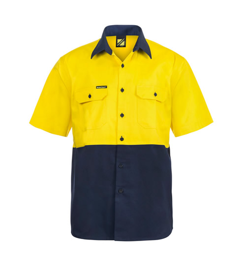 WS3023 Hi Vis Two Tone Short Sleeve Shirt