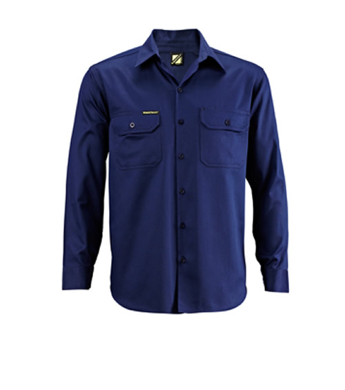 WS3024 Lightweight Long Sleeve Cotton Drill Shirt