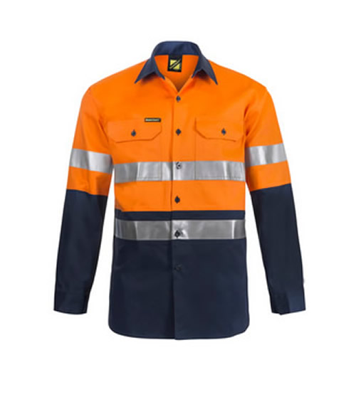 WS3028 Hi Vis Two Tone Long Sleeve Shirt with 3M 9920 Reflective Tape