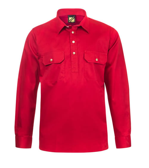 WS3029 Lightweight Half Placket Long Sleeve Shirt
