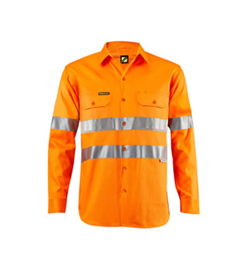 WS4005 Lightweight Hi Vis Long Sleeve Shirt with 3M Reflective Tape