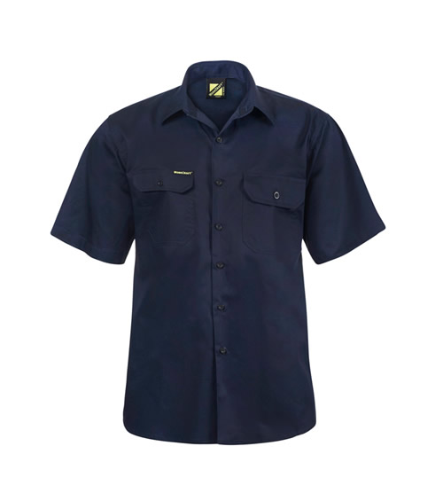 WS4012 Lightweight Short Sleeve Vented Cotton Drill Shirt