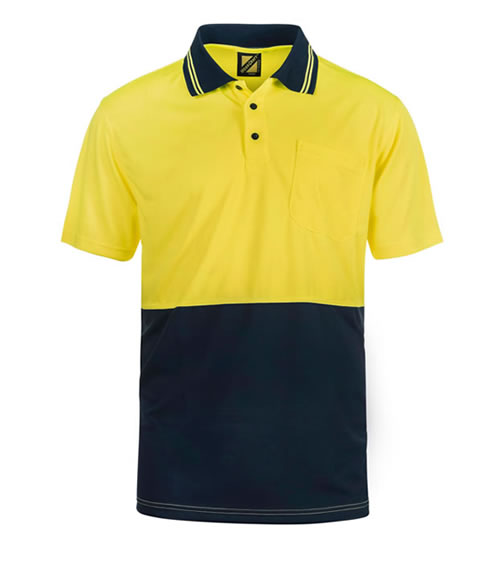 WSP201 Hi Vis Two Tone Short Sleeve Polo with Pocket