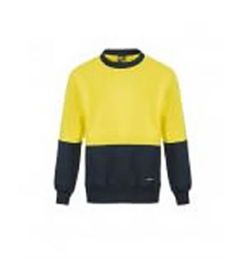 WT8000 Hi Vis Two Tone Crew Neck Jumper